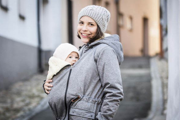 winter baby wearing
